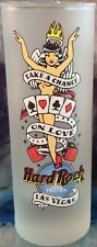"""Hard Rock Hotel LAS VEGAS 4"""" Frosted SHOT GLASS """"Take A Chance On Love"""" Hot Girl"""