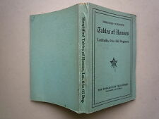 1949 SIMPLIFIED SCIENTIFIC TABLES OF HOUSES LATITUDE 0 TO 66 DEGREES ROSICRUCIAN