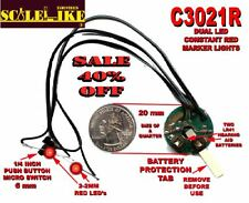 SCALELIKE C3021R DUAL RED MARKER LIGHT PROUDLY MADE IN AMERICA N.I.B