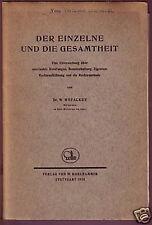 Dr. W. Hofacker (Min.-Rat): Brief und Broschüre von1930