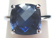 Lab Created Sapphire Silver Ring Mar #152