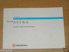 Vauxhall Astra G Owners Manual Handbook 1998 - 2004 FREE UK POSTAGE
