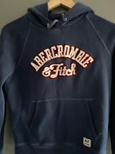 Womens Abercrombie And Fitch Blue Hoodie Sweatshirt Size Small  8-10 .