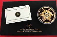 2006 Crystal Snowflake $300 Canada 14KT Gold Coin - Complete Set -  Low Mintage