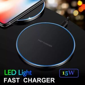 Qi Wireless Fast Charger For Samsung Galaxy S10 S9 S8 For iPhone 11 12Pro Max XS