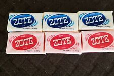 6 Zote White/Pink Bars  14.1oz Hand Wash Soap for Stains 400g Large Zote Soap
