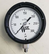 """WGTC 45PL-1/4"""" 0-300 PSI pressure gauge, 4 1/2"""" polypro case, 1/4"""" SS LC"""