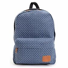 Vans Off The Wall Deana RTL Denim Blue Polka Dot Cotton Backpack Bookbag New NWT