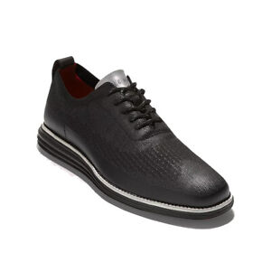 Cole Haan Men's OriginalGrand Stitchlite Wingtip Oxford Dress Shoes Black 10.5