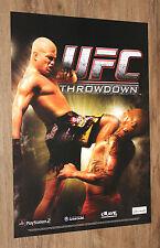 UFC Throwdown very rare Promo Poster 59x42cm Playstation 2 Gamecube