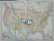 New ListingUs Xl 1912 Dated Map 1910s United States Map Usa Commercial Map. Ak Alaska 1900s