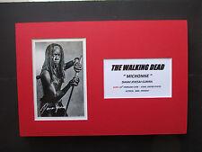"THE WALKING DEAD ""MICHONNE"" - DANAI GURIRA SIGNED PRINTED A4 MOUNTED PHOTO"