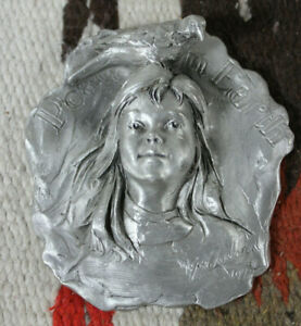 George W Lundeen Pewter Peace on Earth Ornament Sculpture