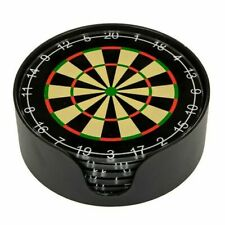 Boxed 6 X Glass Dart Board Drinking Coasters Games Room Man Cave Present Gift