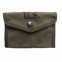 WWII WW2 USMC ARMY FIRST AID POUCH BAG EQUIPMENT M1 SET M1943 ARMY GREEN