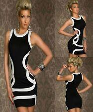 Black White Sleeveless Cocktail Party Dance Formal Dress Ladies Sz 8 10