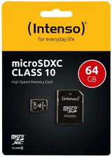 Intenso Micro SDXC Karte 64GB Speicherkarte Class 10