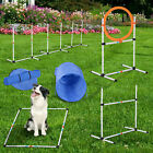 Pawhut Outdoor Dog Pet Agility Training Equipment Backyard Starter Course Set