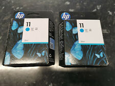 HP 11 Cyan Ink Cartridge - C4836A  Dec 2021 x 2