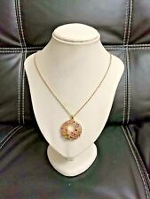 New Elegant Women Fashion Circle colorful Crystal  Pendant long Necklace Chain