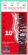 10-20-01 KINGS AT RED WINGS HOCKEY TICKET STUB SCOTTY BOWMAN 1200TH WIN