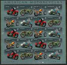 4085-4088 Motorcycles Pane of 20 Unfolded Mint NH