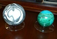 Sphere Egg Ball Large Glass Display Stand Holder Clear low profile