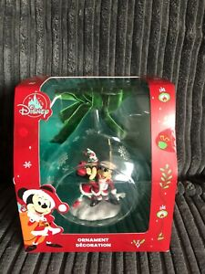 Disney Mickey and Minnie Mouse 2020 Dated Open Globe Hanging Christmas Ornament
