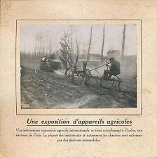 PHOTO PRESSE c. 1910 - Appareils Agricoles Charrue Tracteur à Chelles - 193