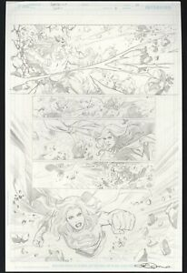 Supergirl: Rebirth #1 pg 13 Original Comic Art Emanuela Lupacchino SIGNED Lar-On