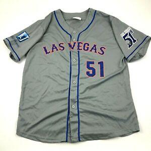 NEW Las Vegas Aviators Baseball Jersey Size Extra Large Gray Shirt Dry Fit MILB