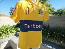 Barbour Calvary Polo #1 Shirt, Yellow Short Sleeve UK Lrg US Med, Chest 43 inch