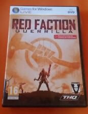 GIOCO PC DVD - RED FACTION GUERRILLA - MANUALE ITALIANO - PERFETTO PARI AL NUOVO