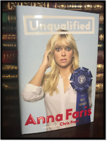 Unqualified ✎SIGNED✎ by ANNA FARIS New Hardback 1st Edition First Printing Pratt
