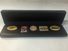 Set of 5 Darrell Waltrip Collectible Pins in case
