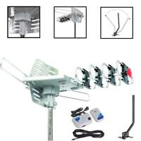 Outdoor 120 Mile Motorized 360 Degree Rotation OTA Amplified HD TV Antenna Mount