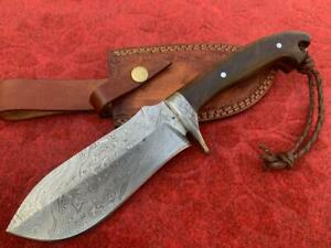 Custom Handmade Damascus Steel Bowie knife, Hunting Bowie, Survival Bowie Knife