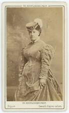 CDV circa 1870. Caroline Miolan-Carvalho, chanteuse lyrique. Cantatrice.