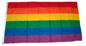 Flagge / Fahne Regenbogen Hissflagge 60 x 90 cm