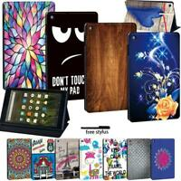 LEATHER STAND COVER CASE For Amazon Fire7 (5/7/9th) HD8 (6/7/8th) HD10(5/7/9th)