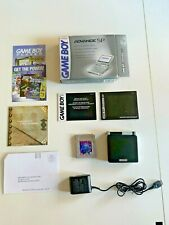 Nintendo Gameboy Advance SP Handheld System w/ Box Instructions Charger Tested