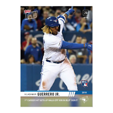 VLADIMIR GUERRERO JR RC 2019 TOPPS NOW #137 IST CAREER HIT MLB DEBUT ROOKIE