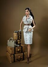 LUXURY MINT Fashion Royalty Monogram Jet Set Luggage Set SAND NRFB Jason Wu