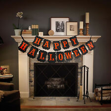 HAPPY HALLOWEEN PARTY STRING BANNER DECORATION ACCESSORY PUMPKIN NEW