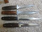 Antique Case XX Hunting fix blade knives lot 13978