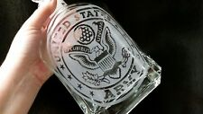 United States Army Glass Decanter w/ Stopper~Solid & Heavy~Rare Piece