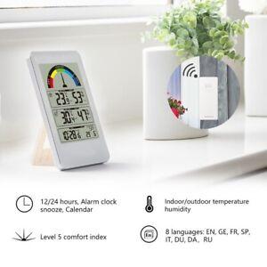 Digital Weather Station Thermometer Hygrometer Wireless Indoor Outdoor Sensor