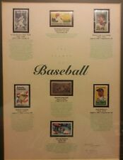 The stamps of baseball rare collection signed numbered Olympics centennial 1993
