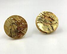 Movement Gold Tone Cufflinks Rare Vintage Dante Watch