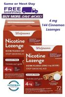 2 Pack Walgreens Nicotine Lozenge 4 mg 72 Ct. Cinnamon Flavor Compared Nicorette